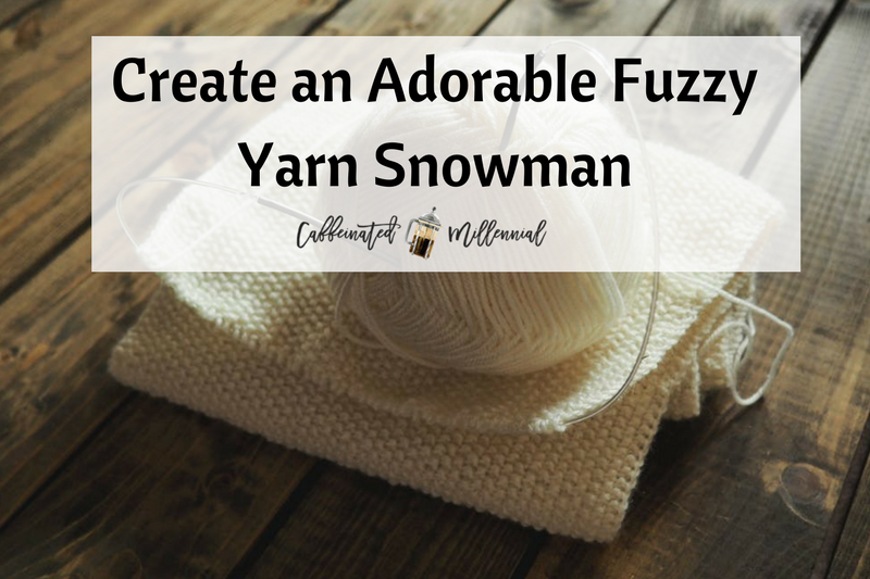 Create an Adorable Fuzzy Yarn Snowman