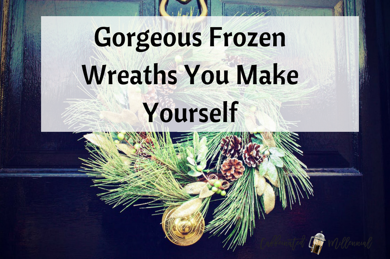 Gorgeous Frozen Wreaths You Make Yourself