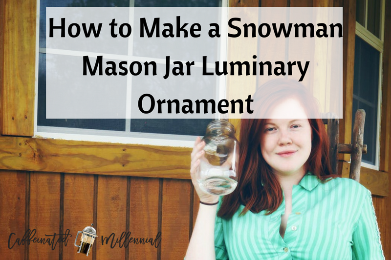 How to Make a Snowman Mason Jar Luminary Ornament