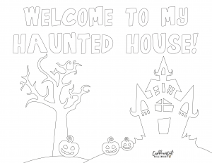printable coloring sheets for Halloween