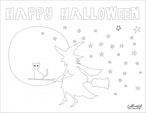 Free Halloween witch coloring sheets